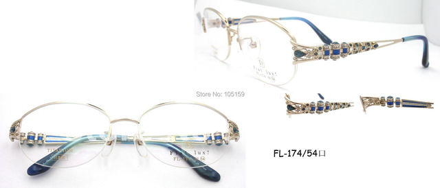 Brand Luxury glasses,Japan Original titanium optical frames,famous design,good quality,free shipping,MOQ1pc(FL174-54mm)
