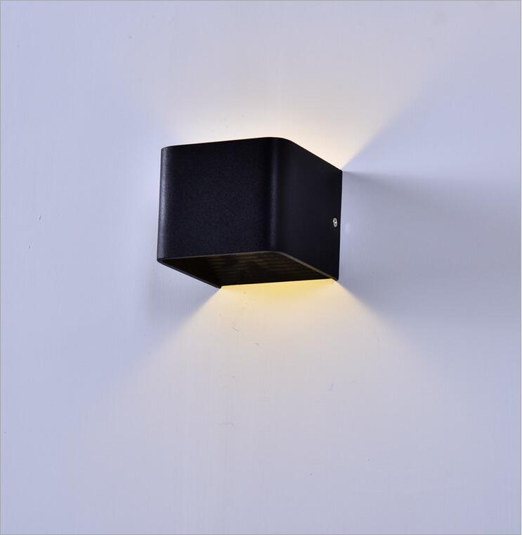 Modern 5W Led Wall Lamps 10108cm Aluminum