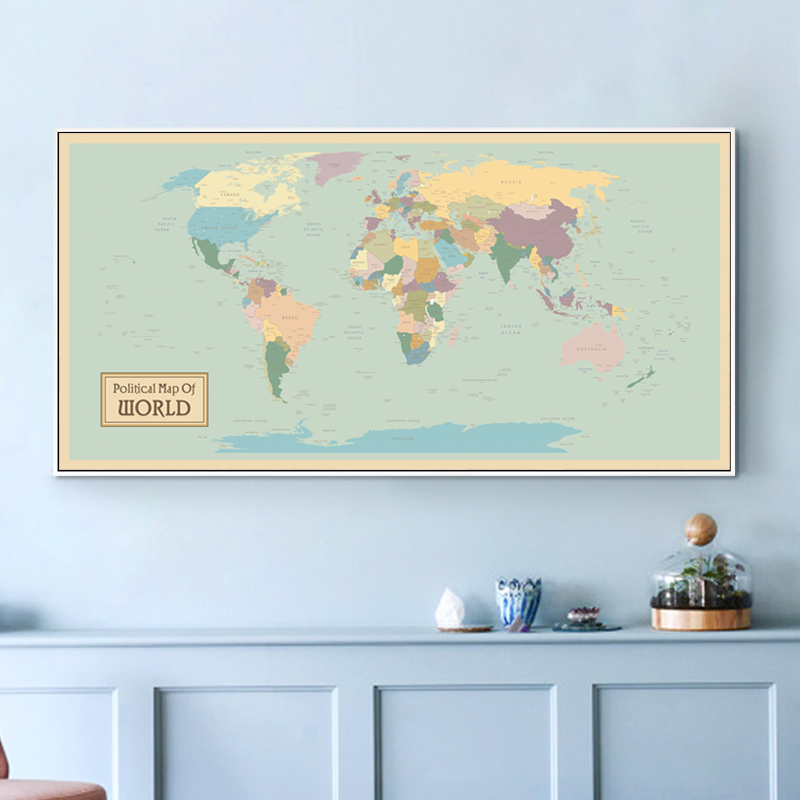 4a08d5946e2e Online Shop Canvas Painting Print Poster Vintage World Map Banner Wall Art  Painting Canvas Pictures For Living Room Shop Home Decoration