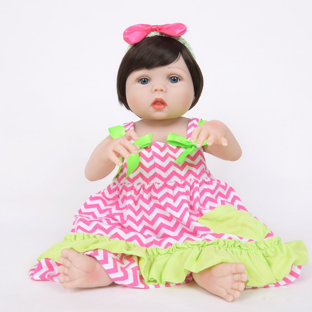 55cm Full Silicone Vinyl Reborn Baby Doll Baby Alive Doll kids Play House Toy Girl Brinquedos Shower Toys55cm Full Silicone Vinyl Reborn Baby Doll Baby Alive Doll kids Play House Toy Girl Brinquedos Shower Toys
