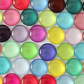 18mm Mixed Style Colorful Round Glass Cabochon Dome Jewelry Finding Cameo Pendant Settings 50pcs/lot (K02799)