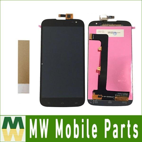 Haute Qualité Noir Couleur 1 pc/lot Pour Gigabyte GSmart Saga S3 LCD Display + Assemblée D'écran Tactile avec des outils + bande