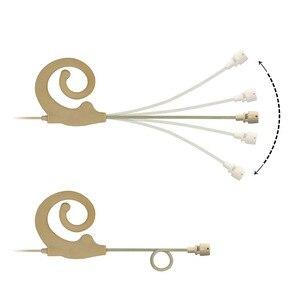 Image 4 - 4 פינים מיני XLR תקע 7.5mm קוטר מיקרופון עור צבע חד כיוונית סוג מיני אחת אוזן תליית אוזניות מיקרופון