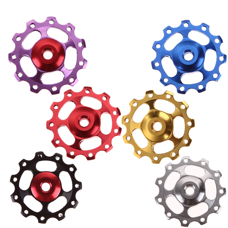 2pcs 11T Aluminum Alloy Bike Jockey Wheel Rear Derailleur Pulleys Bicycle PR/_kz