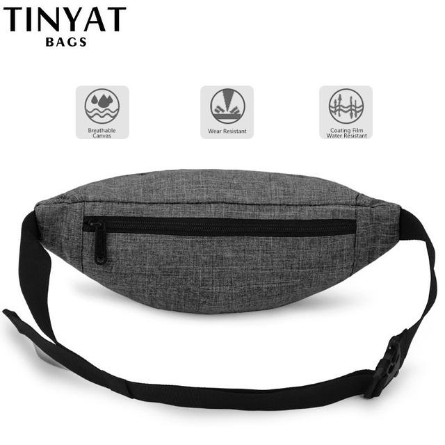 TINYAT Men Casual Functional Waist Bag T201