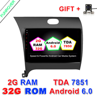 2 Din 9 Inch Car DVD Player Android 6 0 For KIA K3 Cerato FORTE 2012