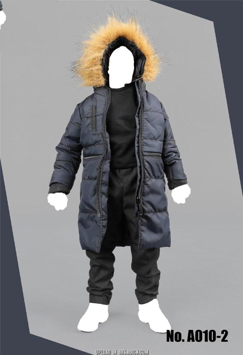 A010 1/6 del Cotone degli uomini di Inverno Lungo Cappotto con Pantaloni e T Set Camicia di Modelli per 12''Action Figure Corpi Accessori-in Action figure e personaggi giocattolo da Giocattoli e hobby su  Gruppo 1