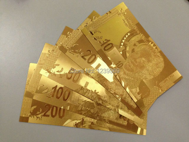 High Quality Full Set Of South Africa S Currency Gold Foil Plated Banknote