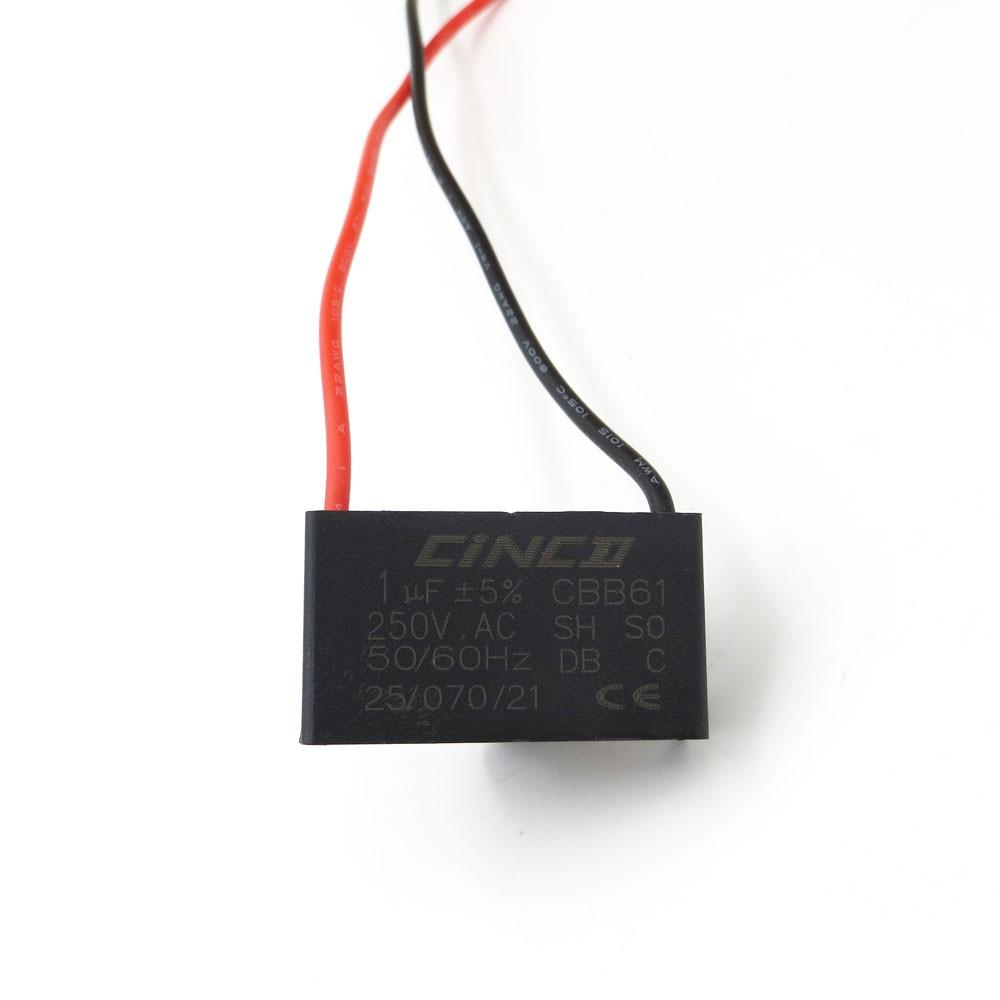 1 Pc Cbb61 Motor Run Kondensator 1 Uf 250 V Ac 2 Drähte Elektrische Fan Geschwindigkeit Elektrische Fanners Ventilatoren Auspuff Fan Kondensator Start