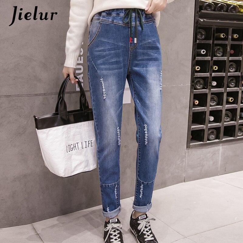 Women's Clothing Guuzyuviz Casual Autumn Winter Jeans Women Plus Thick Velvet Plus Size Denim Pants Patch Work Calca Jeans Feminina