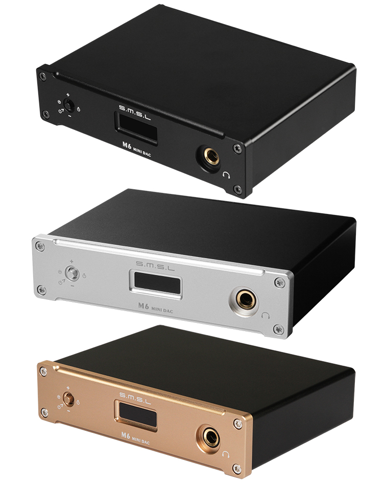 SMSL M6 HIFI DAC + Kopfhörer Amplifier All-in-One Optic/Koaxial/USB 384 KHZ/<font><b>32Bit</b></font> 3 farbe image