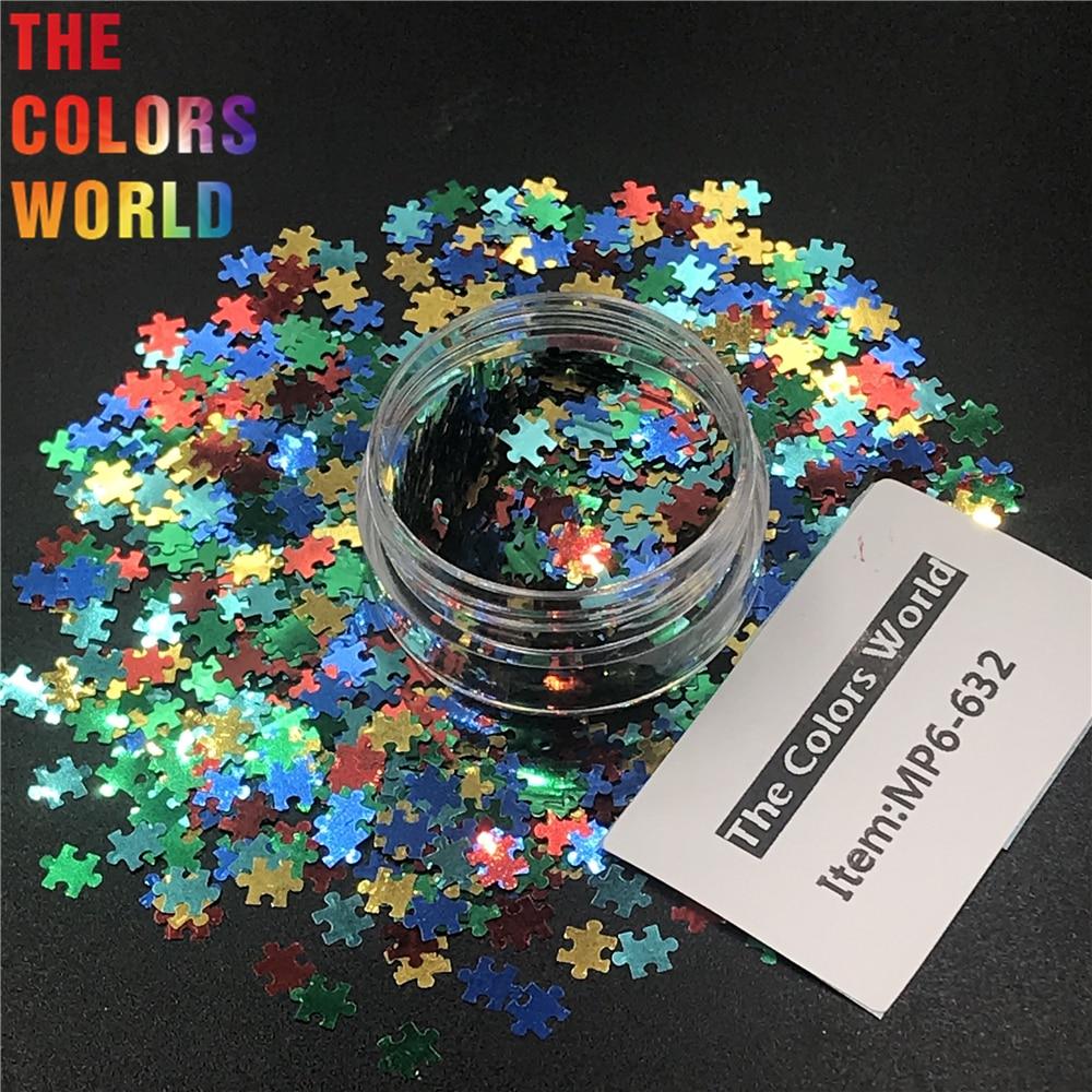 TCT-298 Puzzles Shapes Nails Glitter jigsaw Art DIY Decoration Gel Body Art  Decorations Makeup Handwork Tumblers Home DIY Decor