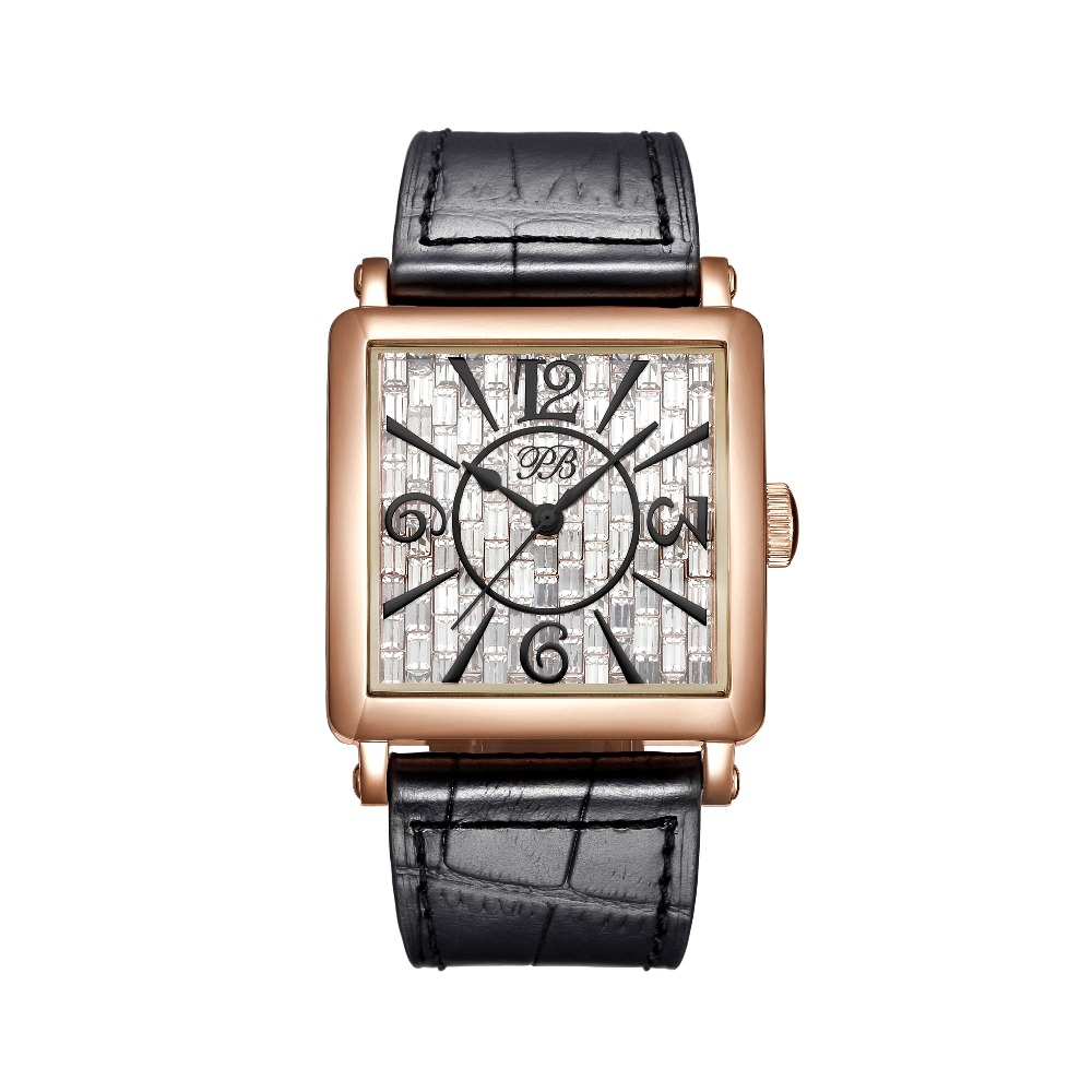 PB Luxury Brand Watch Women Fashion Dress Austria crystal Ladies Watch Stainless Steel Casual Quartz Wristwatch
