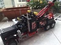 1877Pcs Hot Sale LEPINS Technic Series Pneumatic Tow Truck Model Building Kits Blocks Bricks Figures Toys