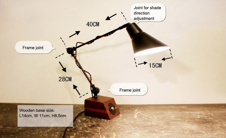 Foldable grasshopper foot shaped desk light table lamp with toggle about the option wire concealed wire outside keyboard keysfo Images