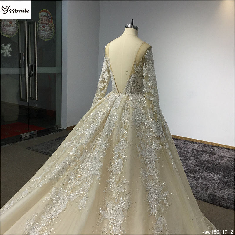 sw18011712-7  Surmount Design Elegant Lace Wedding Dresses Scoop Neck Long Sleeves Vintage Wedding Gown Floor Length Royal Train Wedding Dress HTB1NxrWolDH8KJjSspnq6zNAVXap