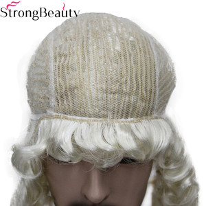 Image 5 - StrongBeauty Synthetic Judge Wig Nobleman Curly Hair Historical Blonde Gray Black Wigs
