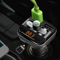 FM Transmitter Bluetooth Car Kit MP3 Player LED Dual USB 3 4A Voltage Display Micro SD