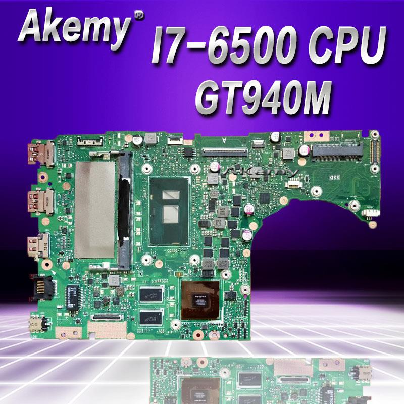 Akemy K401UB Laptop motherboard I7 6500 CPU GT940M for ASUS K401U A401UB K401UQ Test mainboard K401UB