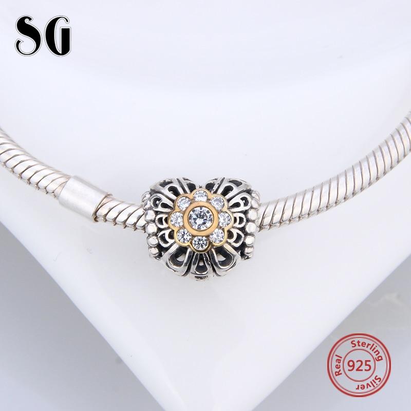 2018 Printemps Clair CZ Croix Charm convient pandora Original Bracelet pas cher 925 Sterling Silver Alphabet Charmes Perle livraison gratuite