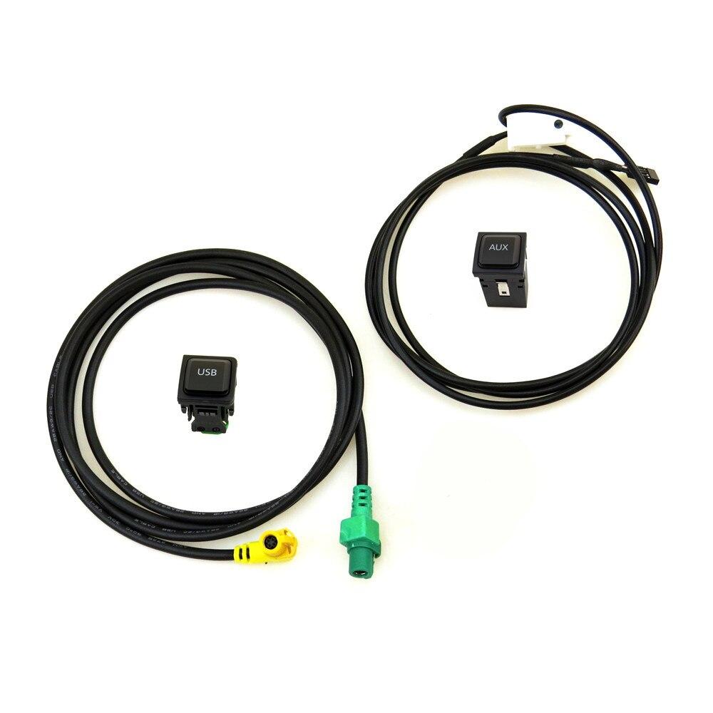 A-STYLE RCD510 RNS315 Voiture Entrée Audio AUX USB Adaptateur Commutateur usb aux connecteur Câble Pour VW Passat B6 B7 Golf 6 Polo Jetta 5 Mk6