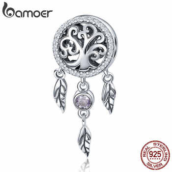 BAMOER 100% 925 Sterling Silver Dream Catcher Holder Family Tree Beads fit Women Charm Bracelets Necklaces DIY Jewelry SCC723 - DISCOUNT ITEM  35% OFF All Category