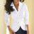 Torção Mulheres Tops casuais 2016 Moda Outono Camisa Branca Roupas femininas Blusa Nova Manga Longa Roupas Femininas Turn Down colarinho