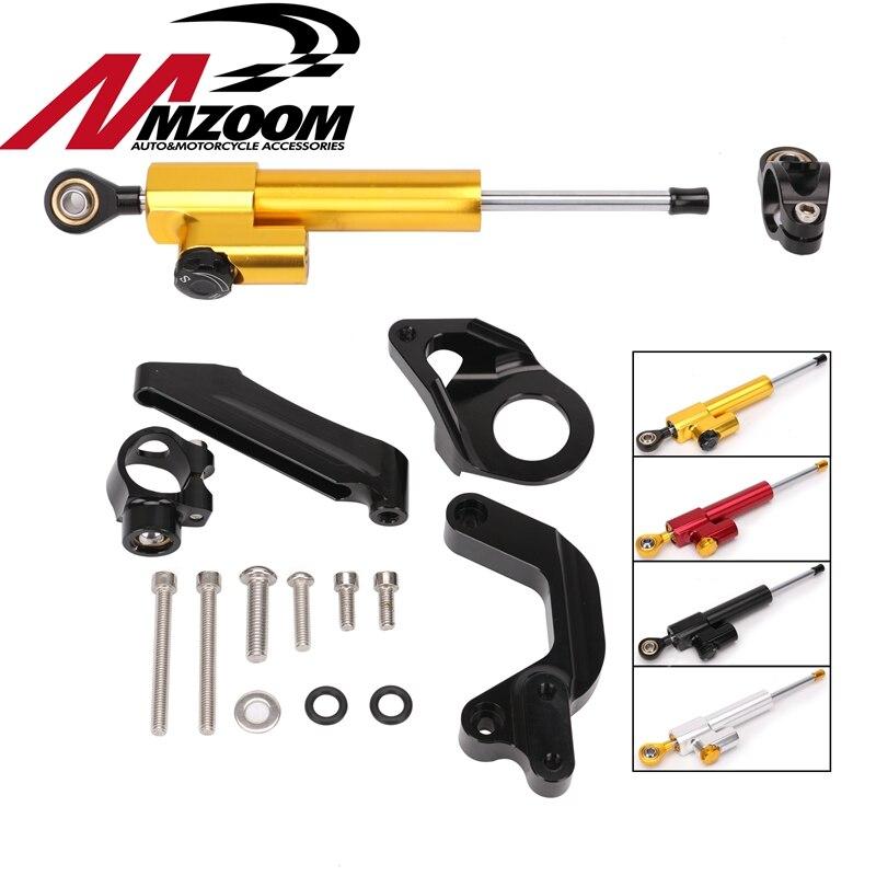 Motorcycle Accessories Adjustable Steering Stabilize Damper Bracket Mount Support Kit For SUZUKI GSXR1000 GSXR 1000 2009-2015 цена