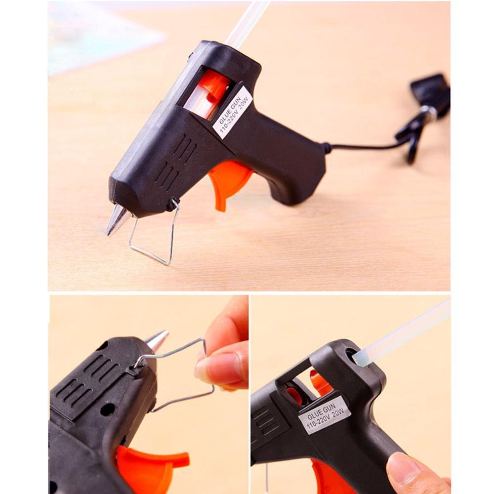 Hot 20W Electric Heat Hot Melt Glass Glue Caulk Gun Sticks Repair Pneumatic Tool UK