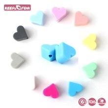 Keep&Grow 10pcs Heart Silicone Beads Baby Teething Beads Foo