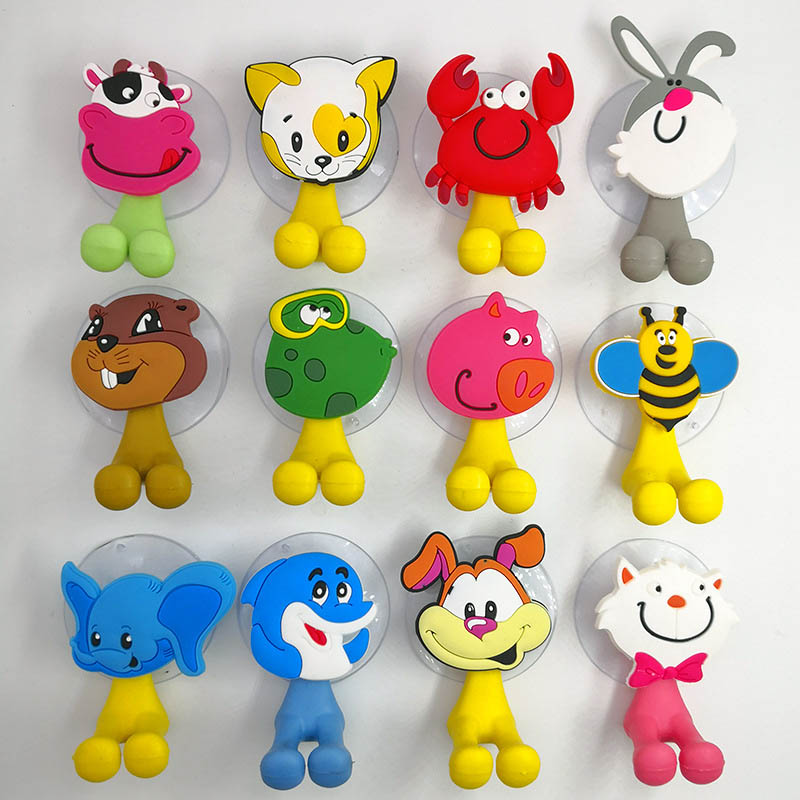 Animal Cute Cartoon Suction Cup Toothbrush Holder Bathroom