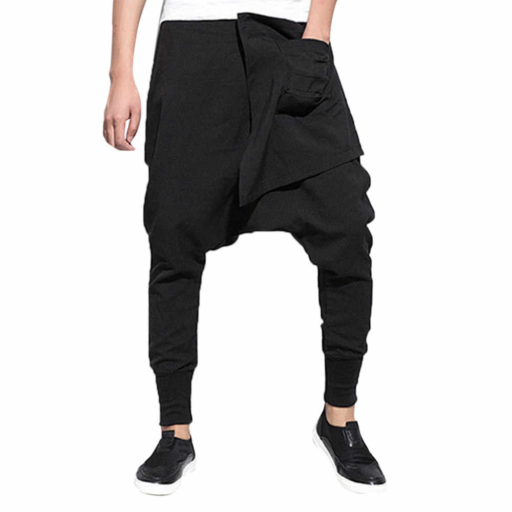 67190f57051 pantalon homme Fashion Pure Color Trousers Leisure modis Sport Hip-hop  streetwear Pencil Pants men