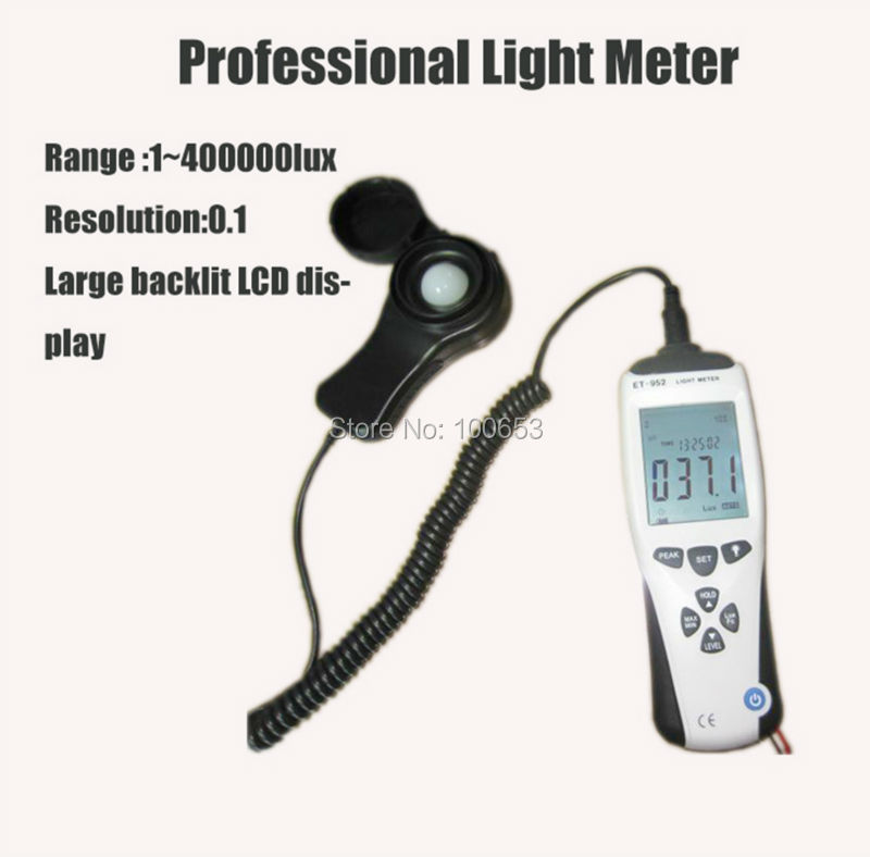 LA-952 Professional Digital Light Meter Luxmeter Lux/FC Meters Luminometer Photometer 400000 Lux new professional lx1010bs digital light meter 100000 handheld lux meter