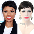 Brazilian hair Full lace front human pixie cut short hair wigs for black women 2017 celebrity wigs 6A Grade Full lace wigs