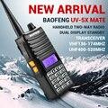 Chegada nova Baofeng UV-5X Companheiro Handheld Two-way Radio Transceiver VHF136-174MHz UHF400-520MHz Dual Standby Display