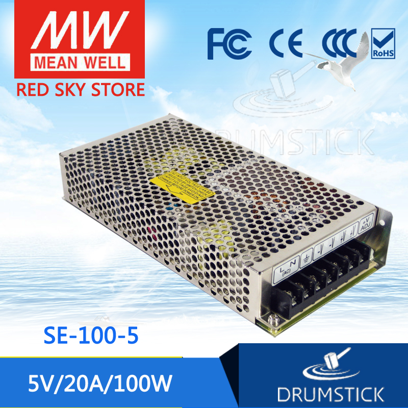 100% Original MEAN WELL SE-100-5 5V 20A meanwell SE-100 5V 100W Single Output Switching Power Supply