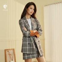 Fansilanen 2018 Новое поступление Мода Осень/Весна 2 два 1 предмет Для женщин мини line клетчатая юбка и сидит свободно Z84285