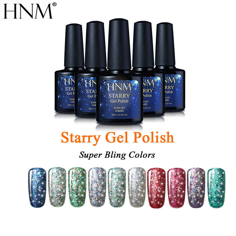 HNM 10ML Starry Bling Gel Lack Long Letzten Gel Polish Glitter UV Gel Nagellack Semi Permanent Lack Hybrid gellak Gelpolish