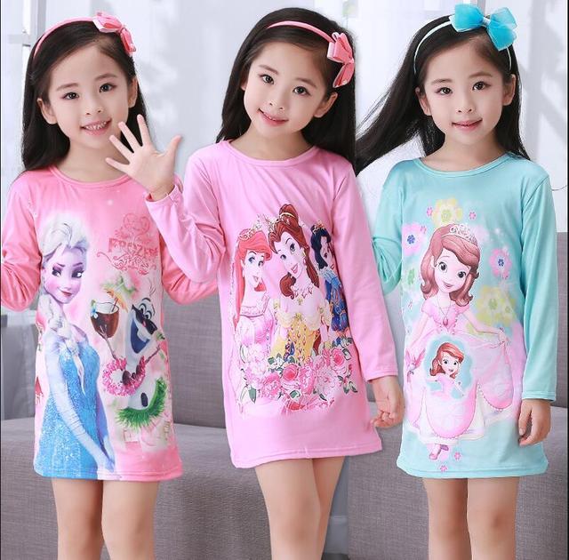Gratis Verzenden Kinderkleding.Gratis Verzending Meisjes Nachtjapon Kinderkleding Breien Katoen