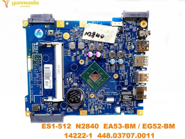 original for ACER ES1 512  laptop motherboard ES1 512  N2840  14222 1  448.03707.0011  tested good free shipping