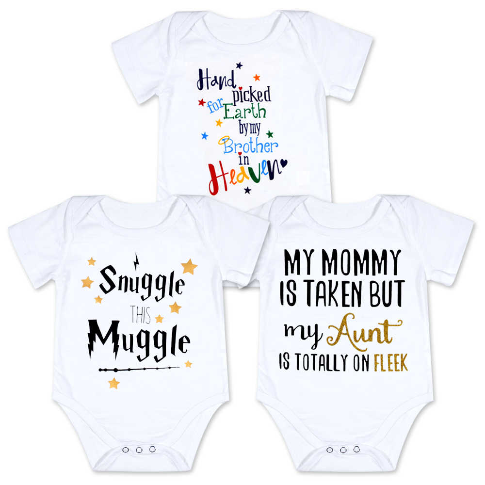 COLOOM Funny Infant Romper Jumpsuit Baby Aunt Onesies Bodysuit Infant One-Piece Clothing