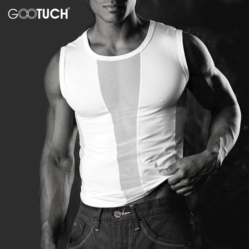 Mens Compression Tank Tops Men Mesh Breathable Suits Men's Bodybuilding Fitness Gyms Vest Men See Though Sleeveless Shirt 5020
