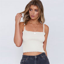 Summer Fashion Women Strappy Off Shoulde Sexy Small Vest Crop Tops Ladies Shirt Casual Sleeveless Tee Shirt Summer Female Blusas(China)
