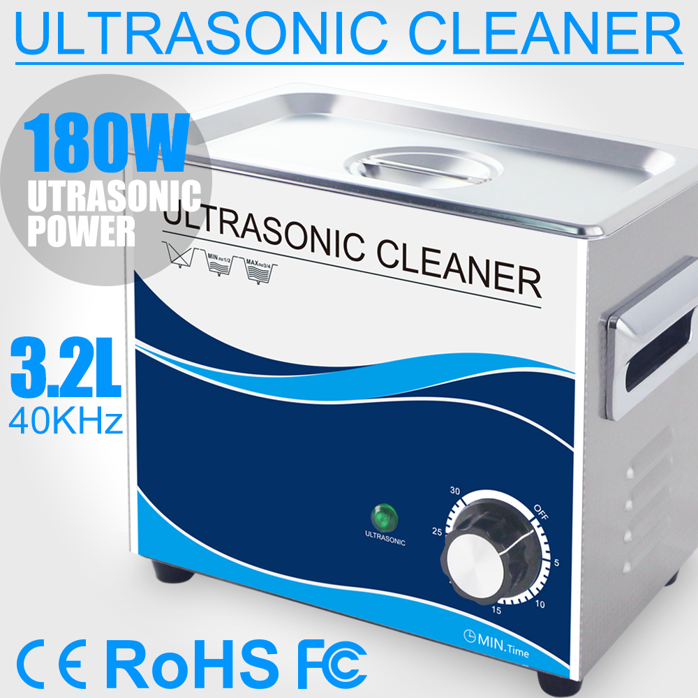 3.2L 180W Ultrasonic Cleaner Mechanical Household Ultrasound Cleaning for Jewelry Watches Table Ware Stone Diamond Dental Tools3.2L 180W Ultrasonic Cleaner Mechanical Household Ultrasound Cleaning for Jewelry Watches Table Ware Stone Diamond Dental Tools