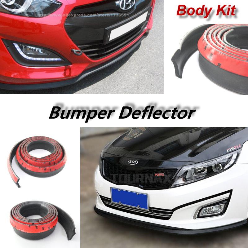 Universal Car Front Rear Side Skirt Bumper Lip Rubber Protector For Hyundai ix35 iX25 Sonata Verna Solaris Elantra Mistra Tucson 4pcs pu for hyundai ix35 ix25 mistra elantra car door kicking pad
