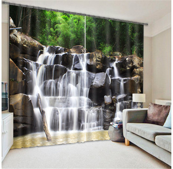 Curtains Waterfall Luxury Blackout 3D Window Curtains  For Living Room office Bedroom Drapes cortinas Rideaux Customized size