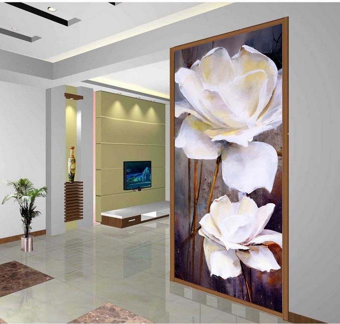 Online Get Cheap Flower Wall Mural Wallpaper Aliexpress Com