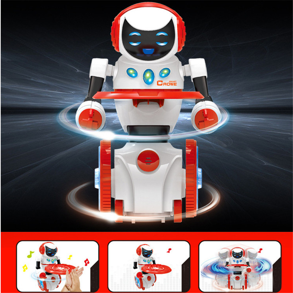 Kid Fun Toy Gift Anti-stress Boy Girl Novelty Gift Intelligent Food Delivery Robot Hand Beat Induction Voice Control Robot Toy