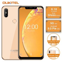 Original OUKITEL C13 Pro 5G/2.4G WIFI 6.18FHD 18:9 2GB 16GB Android 9.0 Mobile Phone MT6739 Quad Core 4G LTE Face ID Smartphone