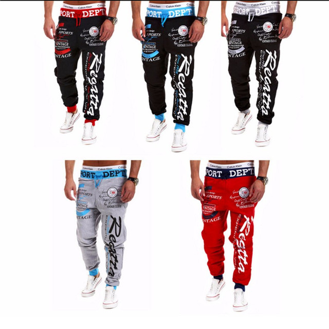 Hot Sale Baggy Men Letter Printing Baggy Harem Cool Long Pants Joggers